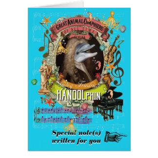 Handel Parody Handolphin Animal Composer Dolphin Card