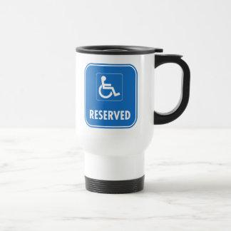 Handicap Parking Sign Stainless Steel Travel Mug