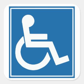 Handicap Sign Stickers