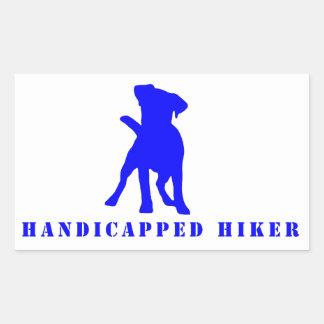 Handicapped Hiker Sticker-Jack Russell Rectangular Sticker