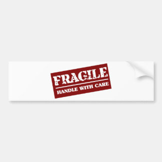Handle with care bumper sticker