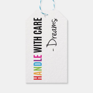 Handle with care super inspiring gift tag