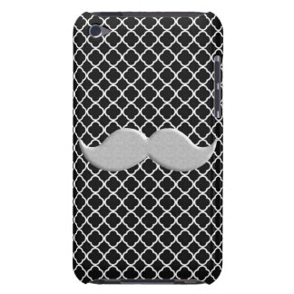 Handlebar Mustache on Abstract Black Background iPod Case-Mate Case