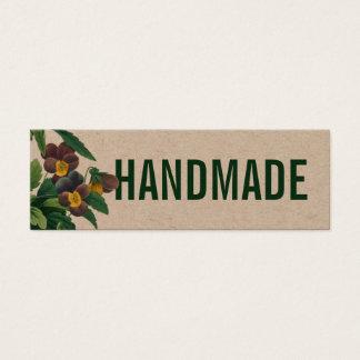 Handmade rustic vintage flower business card
