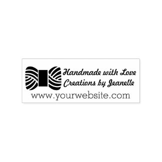 Handmade With Love • Yarn Craft Business Rubber Stamp
