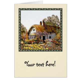 Handpainted Country Cottage Greeting Card