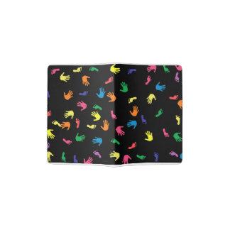 Handprint footprint multicolored passport holder