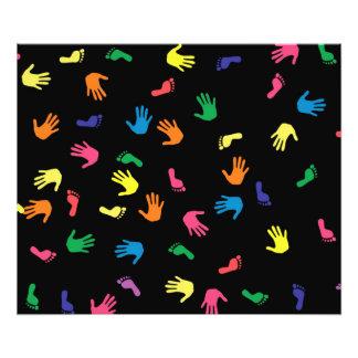 Handprint footprint multicolored photo