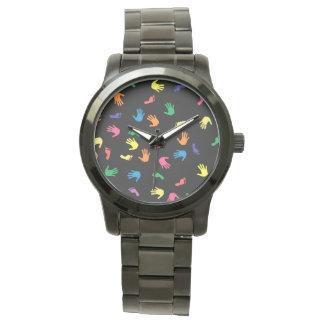 Handprint footprint multicolored watches