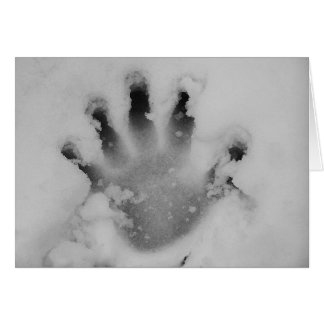 Handprint In The Snow Card