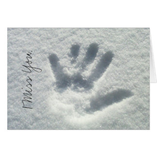 Handprint in the Snow; Sweet Nothings Card