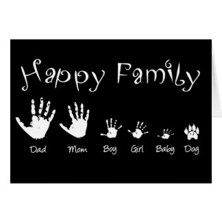 Handprints of happy family card