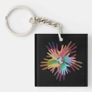 Hands Around the World Key Ring