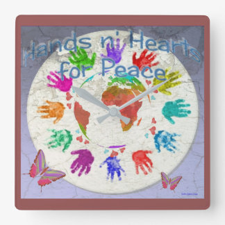 Hands for Peace Wall Clock
