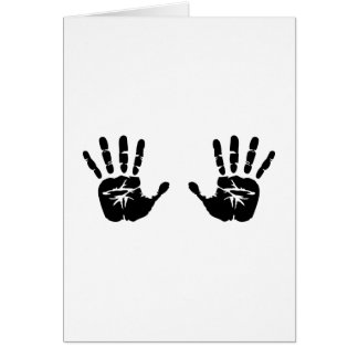 Hands handprints card