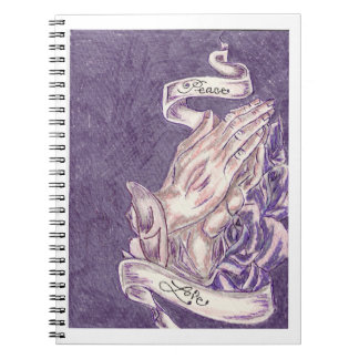 Hands in Prayer Journal Spiral Notebook