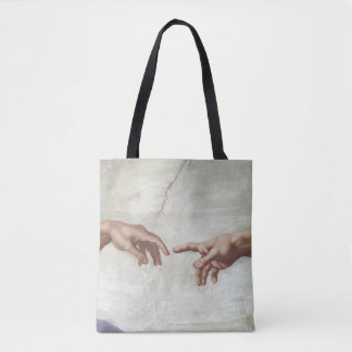 Hands of God and Adam Tote Bag