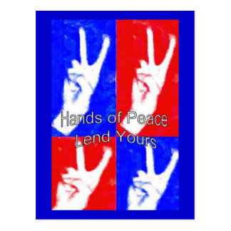 Hands of Peace-Lend Yours Postcard