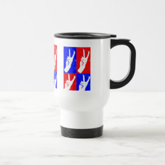 Hands of Peace-Lend Yours Stainless Steel Travel Mug