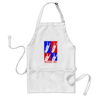 Hands of Peace-Peaceful Chef Adult Apron