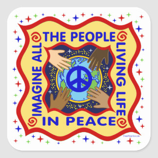 Hands of Peace Square Sticker