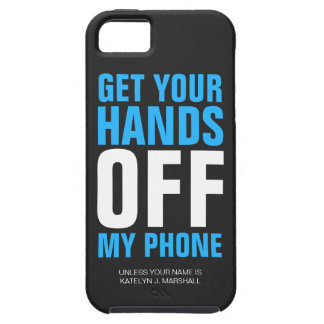 Hands OFF Phone Personalized Blue Case For iPhone 5/5S