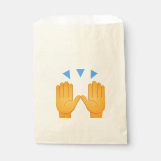 Hands Raised Emoji Favour Bags