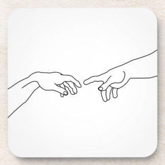 Hands showing the creation of Adam Coaster