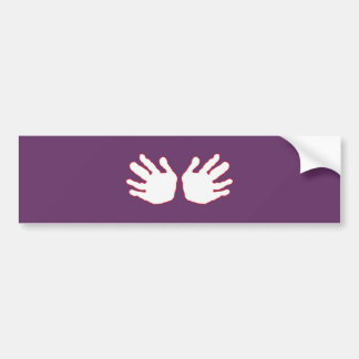 Hands White-Red The MUSEUM Zazzle Gifts Bumper Sticker