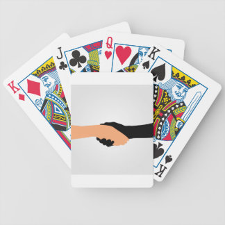Handshake- Graphic to portray- Stop racism Bicycle Playing Cards