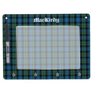 Handsome MacKirdy Clan Tartan Plaid Custom Dry Erase Board