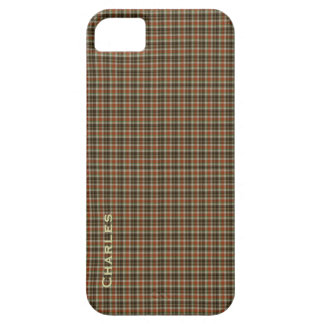 Handsome Orange & Brown Plaid Custom iPhone 5 Case