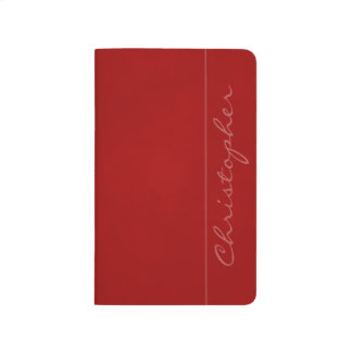 * Handsome Signature Mottled Red Journal