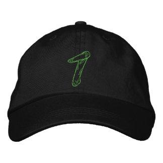 Handstitch Number 1 Embroidered Baseball Caps