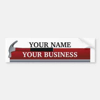 Handyman Carpenter Hammer Bumper Sticker