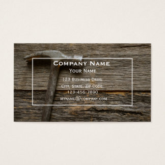 Handyman Hammer Business Card
