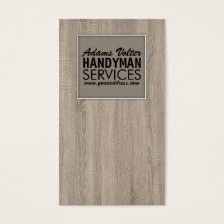 Handyman Service Wooden Template Trendy Card