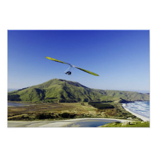 Hang Glider, Otago Peninsula, near Dunedin, Poster