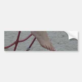 hanging foot climbing frame feet playground sand bumper sticker