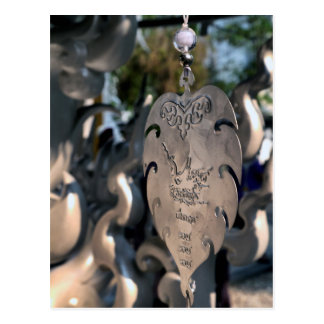 Hanging Heart at White Temple, Thailand Postcard
