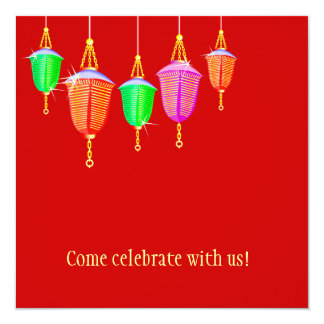 Hanging Lanterns - Any bkgd color Card