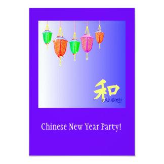 Hanging Lanterns - Blue Card