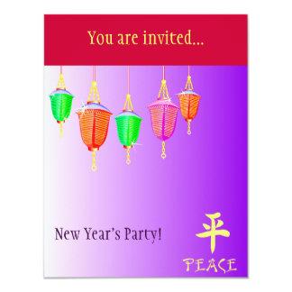 Hanging Lanterns - Purple Card