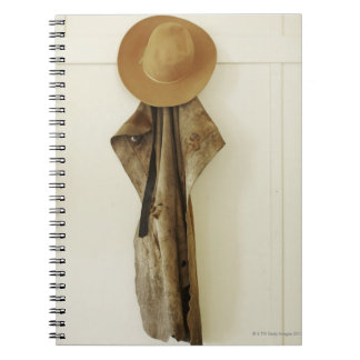 Hanging on farm wall. notebooks