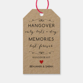 Hangover Kit Tags / Wedding Favor Tags