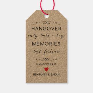 Hangover Kit Tags / Wedding Favour Tags