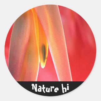 hangup classic round sticker