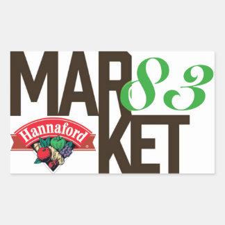 Hannaford Market 83 Rectangular Sticker