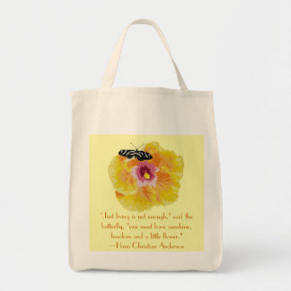 Hans Christian Anderson Butterfly Quote Tote Bag