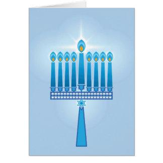 Hanukkah Candles Star Of David Card